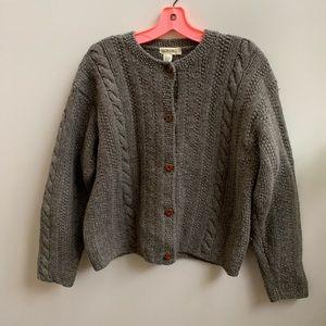 J.Crew Shetland wool cardigan sweater S